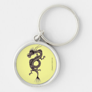 Chinese dragon graphic drawing art keychain design