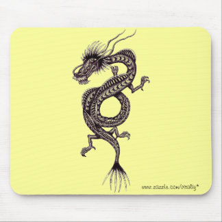 Chinese dragon graphic drawing art mousepad