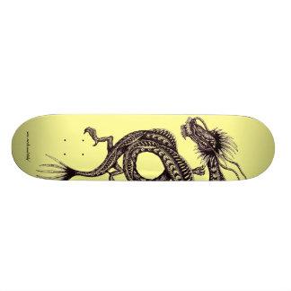 Chinese dragon graphic drawing art skateboard