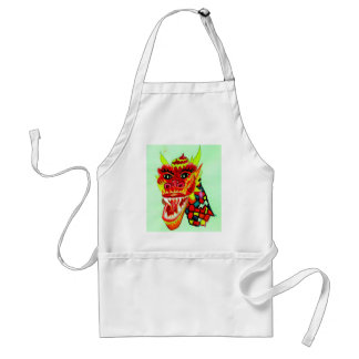 Chinese Dragon Head Adult Apron