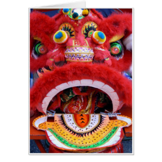 Chinese Dragon Head Card