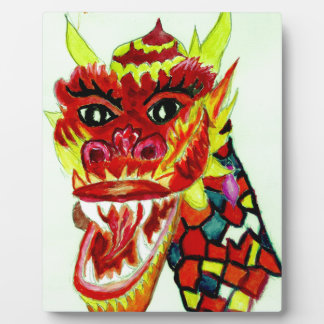 Chinese Dragon Head Plaque