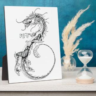 Chinese Dragon Illustration Photo Plaque