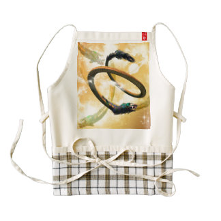 Chinese dragon in the universe zazzle HEART apron