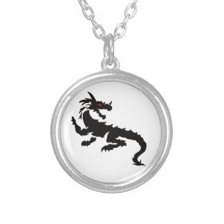 Chinese dragon jewelry set round pendant necklace