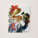 """Chinese Dragon Jigsaw Puzzle<br><div class=""""desc"""">A Chinese woman metamorphosing into a water dragon</div>"""