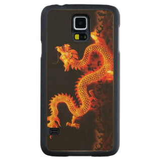 Chinese Dragon Lantern Carved Maple Galaxy S5 Slim Case