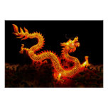 Chinese Dragon Lantern Poster