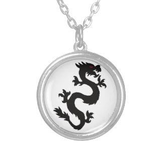 Chinese Dragon matching jewelry set Round Pendant Necklace