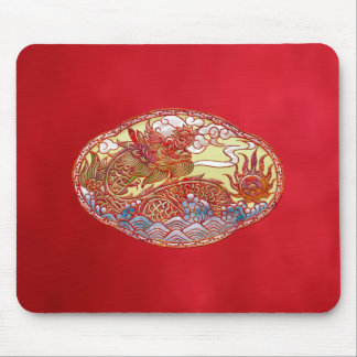 Chinese Dragon Medallion Mouse Pad