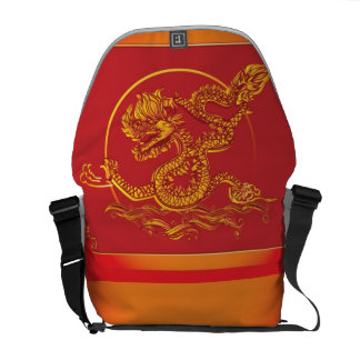 Chinese dragon commuter bags