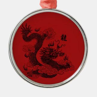 Chinese Dragon Metal Ornament