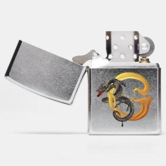 Chinese Dragon Monogram G Zippo Lighter