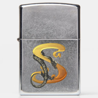 Chinese Dragon Monogram S Zippo Lighter