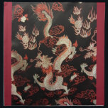 "Chinese Dragon Napkin<br><div class=""desc"">Silver Chinese Dragon with red and black.</div>"