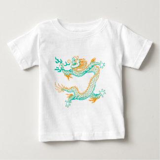 Chinese Dragon (orange aqua) Baby T-Shirt