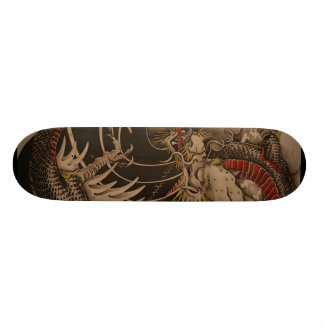 Chinese Dragon Painting Skateboard