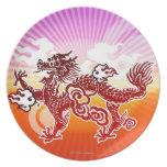 Chinese Dragon Party Plates