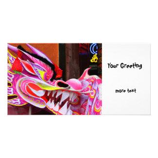 Chinese Dragon Custom Photo Card