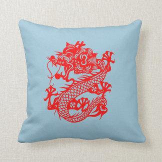 """Chinese Dragon Pillow"" Throw Pillow"