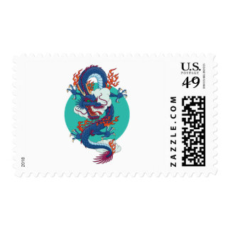Chinese Dragon Postage Stamp