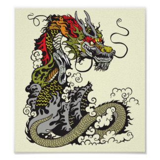 chinese dragon poster