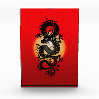 Chinese Dragon, red Acrylic Award