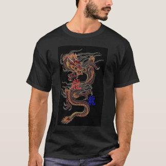 Chinese Dragon Red and Blue Kanji T-shirt