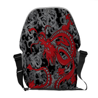 Chinese Dragon - Red Chinese New Year Dragon Courier Bag