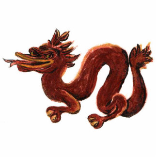 Chinese Dragon Sculpture Brooch Pin