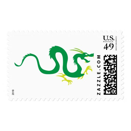 Chinese Dragon Serpent Stamp