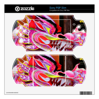 Chinese Dragon Sony PSP Slim Decals