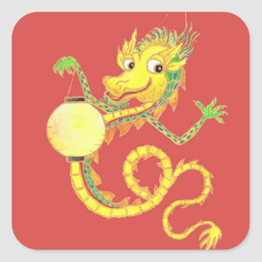 Chinese Dragon Stickers