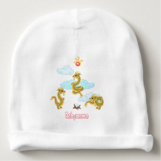 Chinese Dragon Triad Personalized Baby Beanie