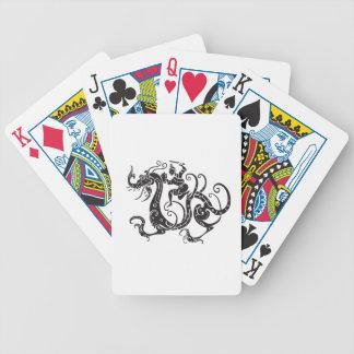Chinese Dragon Warrior Black Poker Cards