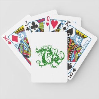 Chinese Dragon Warrior Green Bicycle Poker Deck
