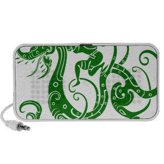 Chinese Dragon Warrior Green Laptop Speakers