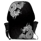 Chinese Dragon White Courier Bag