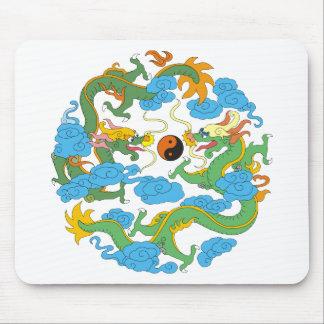 Chinese Dragon Yin Yang Mouse Pad