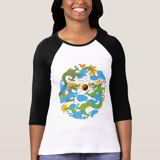 Chinese Dragon Yin Yang T-Shirt Tshirts