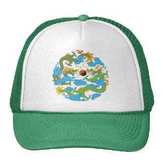 Chinese Dragon Yin Yang Trucker Hat