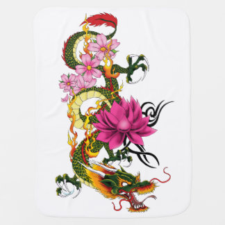 Chinese Dragon Baby Blankets