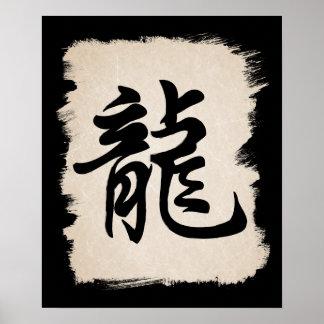 Chinese Dragon Zodiac Sign Symbol poster