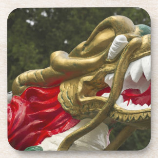 Chinese dragonboat figurehead, Stanley Park Beverage Coaster