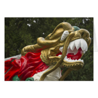 Chinese dragonboat figurehead, Stanley Park Greeting Cards