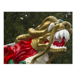 Chinese dragonboat figurehead, Stanley Park Post Cards