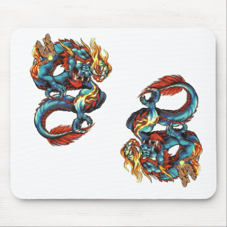 Chinese Dragons Mouse Pad
