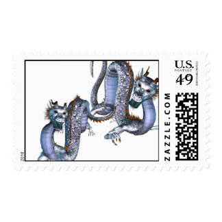 Chinese Dragons Postage Stamp