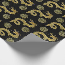 Chinese Dragons Prosperity Symbols Your Color Wrapping Paper