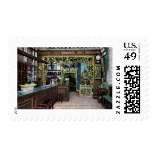 Chinese Drug Store in San Francisco Vintage Postage Stamps